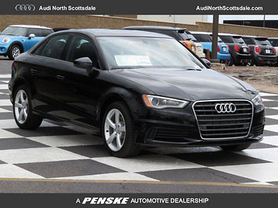 Audi : A3 Premium 1.8  4 Cylinder Turbo FWD New 2016 Audi A3 Bluetooth Audio Black Leather Pano Roof SIrius XM