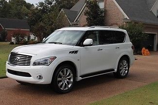 Infiniti : QX80 Base Sport Utility 4-Door One Owner Perfect Carfax Theater Pkg Technology Pkg Touring Pkg 22's MSRP $77195
