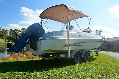 2003 Glastron DX 210 Deck Boat YAMAHA 150 One owner, Very Clean, Alum. * TRAILER