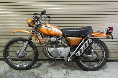 Honda : Other RARE ORIGINAL 70 HONDA SL175 RECENT BARN FIND 7K MILES TOPAZ ORANGE 1970 SL 175
