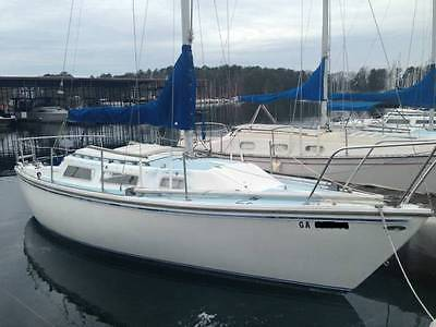 1981 CATALINA 25 TALL RIG SAILBOAT WITH 2009 YAMAHA 8HP OUTBOARD MOTOR SAIL BOAT