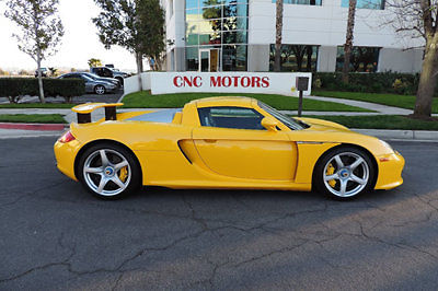 Porsche : Carrera GT Carrera GT 2005 porsche carrera gt cgt in rare fayence yellow highly collectible cnc motors