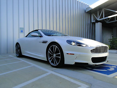 Aston Martin : DBS Volante 2010 aston martin dbs convertible pear wht on chocolate automatic piano fascia