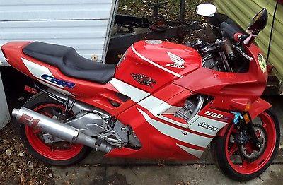 Kawasaki : Ninja 92 1992 honda cbr 600 f 3 cbr 600 f 3 rocket bike motorcycle red white