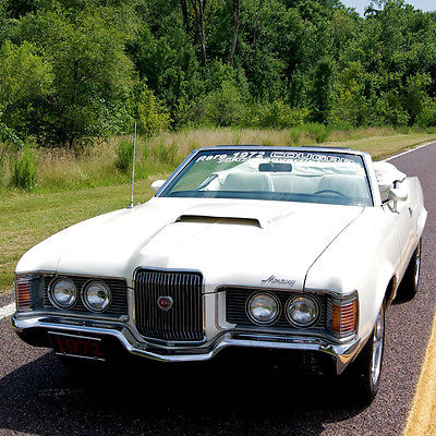 Mercury : Cougar XR7 1972 mercury cougar xr 7 convertible 351 v 8 factory ac power top rare car