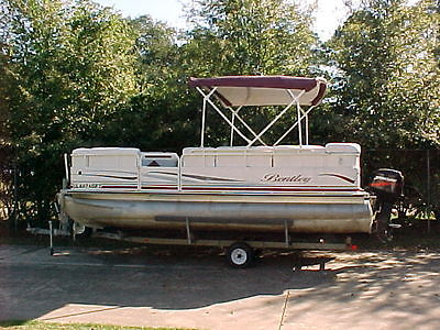 2004 Bentley Pontoon Boat with Mercury 50 HP Motor and Trailer