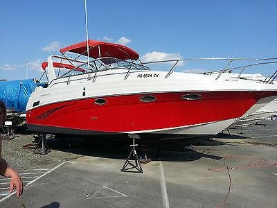2005 Crownline 290 CR, twin 350 mags w/ bravo 3 drives only 277 hours!