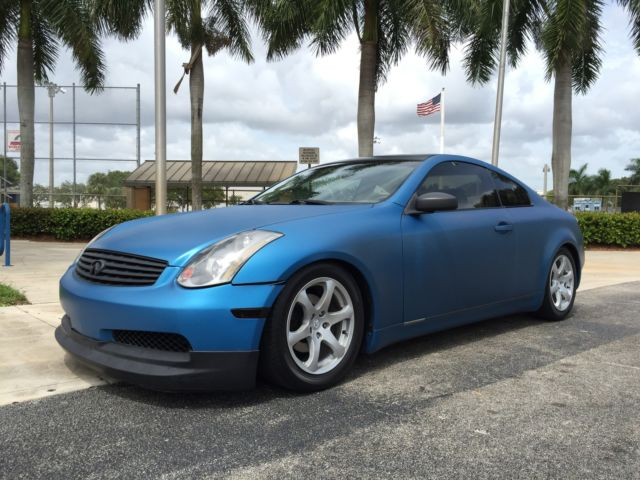 Infiniti : G 2DR COUPE SUPER NICE G35 COUPE LOW MILES FLORIDA CAR NO RESERVE LIKE NISSAN 350Z G37