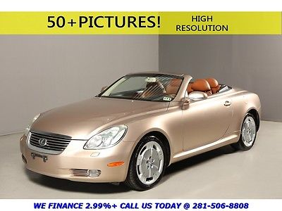 Lexus : SC 2003 SC430 CONVERTIBLE NAV MARKLEV LEATHER HEATED 2003 lexus sc 430 convertible nav mark levinson leather heated seats low miles