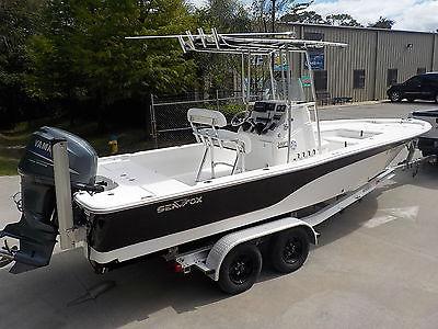2011 SEA FOX 240 XT PRO CC BAY BOAT YAMAHA 4-STROKE 225 HP 397 HOURS T-TOPS HUNT