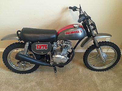 Honda : XR 1973 honda xr 75 gray