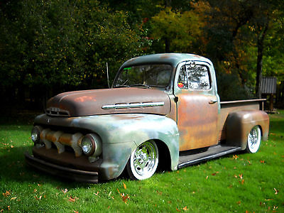 Ford : Other Pickups 51 ford f 1 f 100 short bed patina street rod new 350 driveline a c turn key solid
