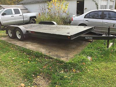 2001 appalachian 18' dove tail trailer