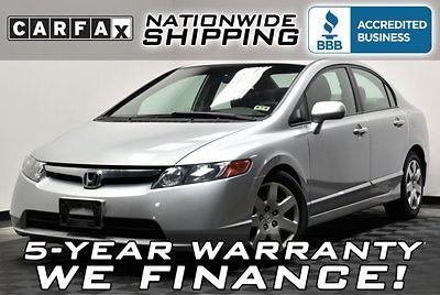 Honda : Civic LX 40 miles per gallon nationwide shipping 5 year warranty loaded gas saver