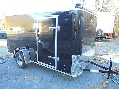2016 LARK 6x12 enclosed cargo landscape utility trailer with ramp door