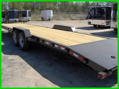 2016 Down to Earth 82x 34 wood deck 2 car i beam hualer trailer 14k GVWR New D2E