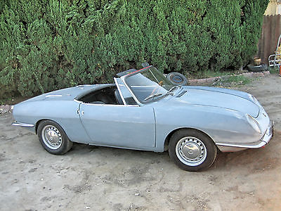 Fiat : Other Convertible  1968 fiat 850 spider covered headlights california car great resto candidate