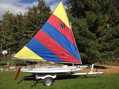 2002 Vanguard Sunfish Sailboat includes 2001 Midwest Trailer, looks like new!!!
