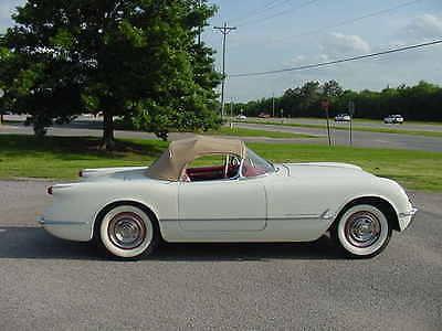 Chevrolet : Corvette Base Convertible 2-Door 1954 chevrolet corvette convertible 2 door 235 ci 155 hp restored original