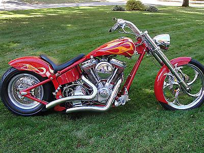 Custom Built Motorcycles : Chopper 1999 extreme softail chopper merch 131 cu harley custom evo bobber runs strong