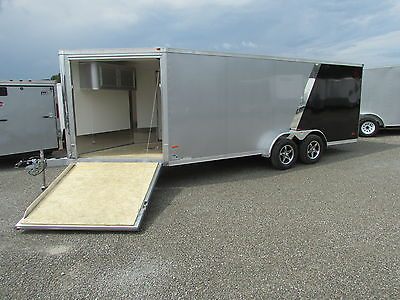 NEW RC 3 PLACE SNOWMOBILE ENCLOSED TRAILER 7 X 23 *BIG SALE* DR TRAILER