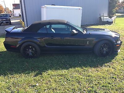 Shelby : GT500 Convertible 2009 black shelby convertible