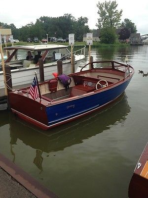 1955 Century Viking Wood Boat
