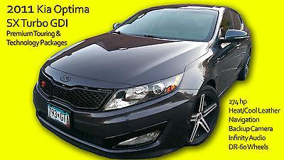 Kia : Optima SX 2011 kia optima sx turbo premium tech nav leather heat cool seats