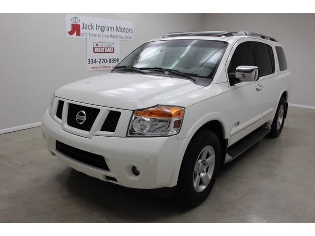 Nissan : Armada 2WD 4dr SE F SE SUV 5.6L CD Moonroof Package 8 Speakers AM/FM radio AM/FM/In Dash 6CD