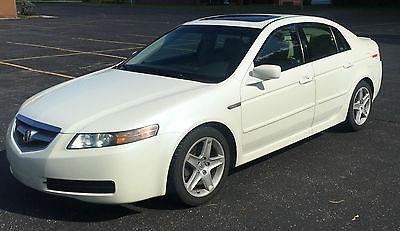 Acura : TL Base Sedan 4-Door 2004 acura tl white tan leather interior w many upgradees