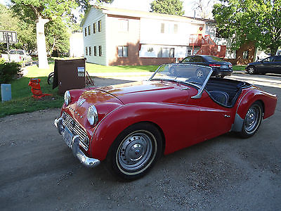 Triumph : Other chrome 1959 triumph tr 3 red color running great classic convertible