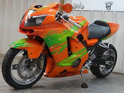 Kawasaki : Ninja 2003 kawasaki zx 12 r zx 12 clear titl custom paint chrome wheels extended swingarm