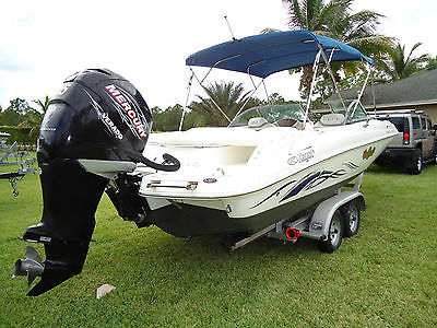 2009 HARRIS KAYOT V220I Mercury Verado 225hp 4-Stroke w/ Trailer Great Condition