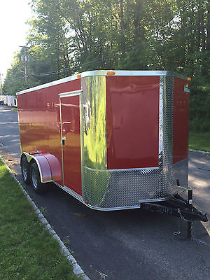 2016 New 7x14 Enclosed Cargo/Utility/Motorcycle Trailer