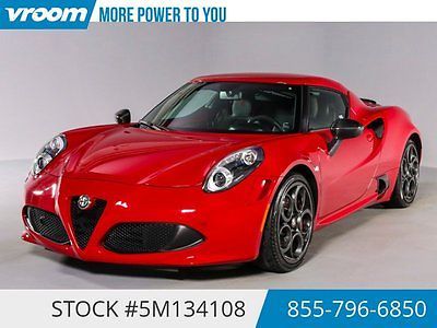 Alfa Romeo : Other Launch Edition Certified 2015 1K M. 1 OWN PRK.ASST 2015 alfa romeo 4 c launch edition 1 k mi bluetooth park asst 1 owner cln carfax