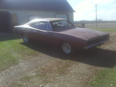 Dodge : Charger HT 1968 dodge charger clear title barn find project car 383 440 426 hemi