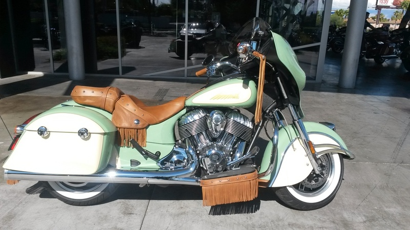 2015 Indian Chieftain Willow Green Cream