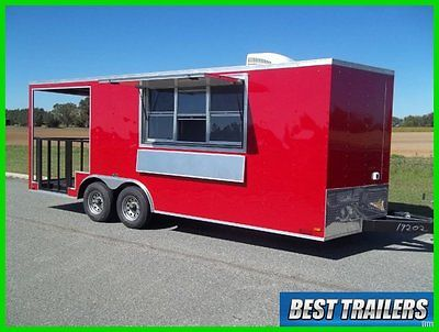 2016 look 8x20 bbq Porch Enclosed Concession trailer vending 8 x 20 electrical