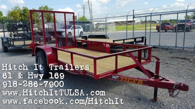 Full Wrap Tongue 5 x 10 Utility Trailer with ramp