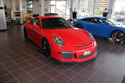 Porsche : 911 GT3 2015 porsche 991 gt 3 guards red cpo extended warranty