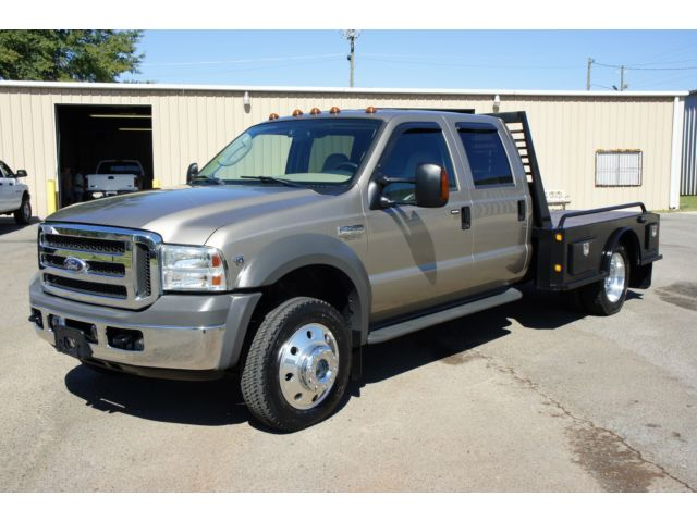 Ford : Other Pickups Crew Cab 176 2005 ford f 450 lariat 4 x 4 4 k miles 1 owner v 10 like new flatbed f 450