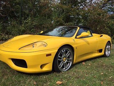Ferrari : 360 spider convertible 2003 ferrari 360 spider convertible 2 door 3.6 l