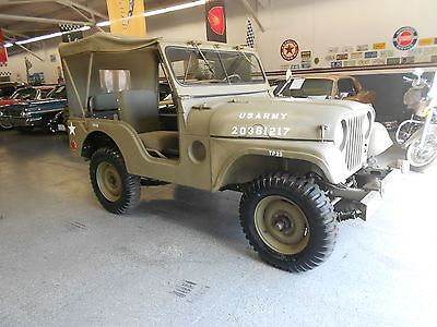 Willys : Jeep Military Millitary issue M38 A1 Restored
