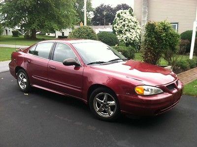 Pontiac : Grand Am SE Sedan 4-Door 2005 burgundy grand am 6 cyl automatic