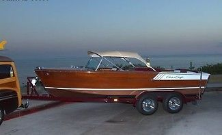 1961 Chris Craft Continental 19ft Cruiser, 360 Original Hours, Trailer!