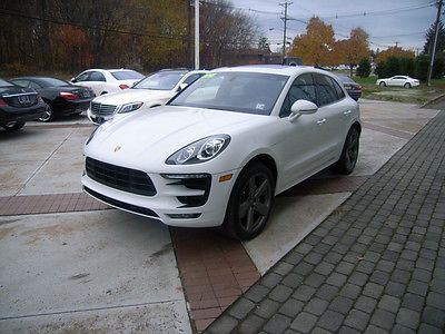 Porsche : Other macan S 2015 porsche macan s white with expresso leather interior