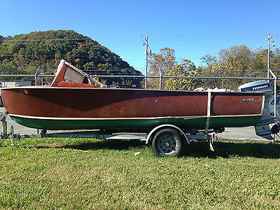 1956 Whirlwind Boat 18' with Evinrude 50 VRO Engine & EZ Load Trailer