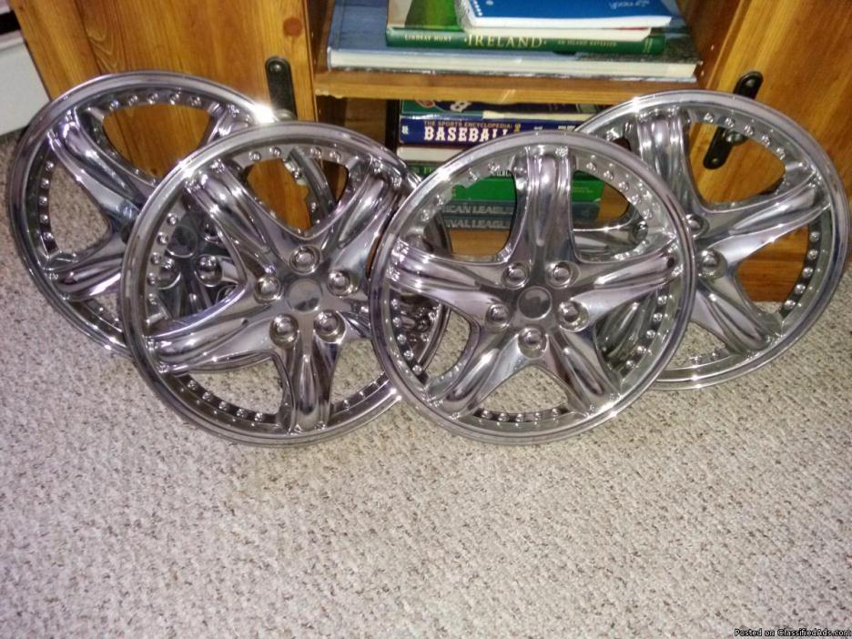 14inch chrome hubcaps