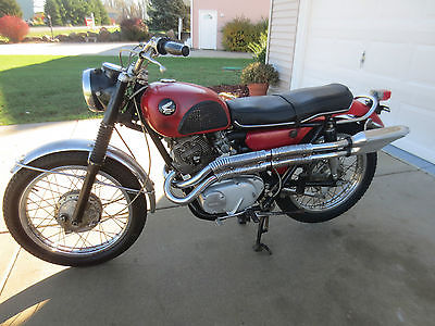Honda : CL 1966 honda 305 scrambler cl 77 vintage time capsule