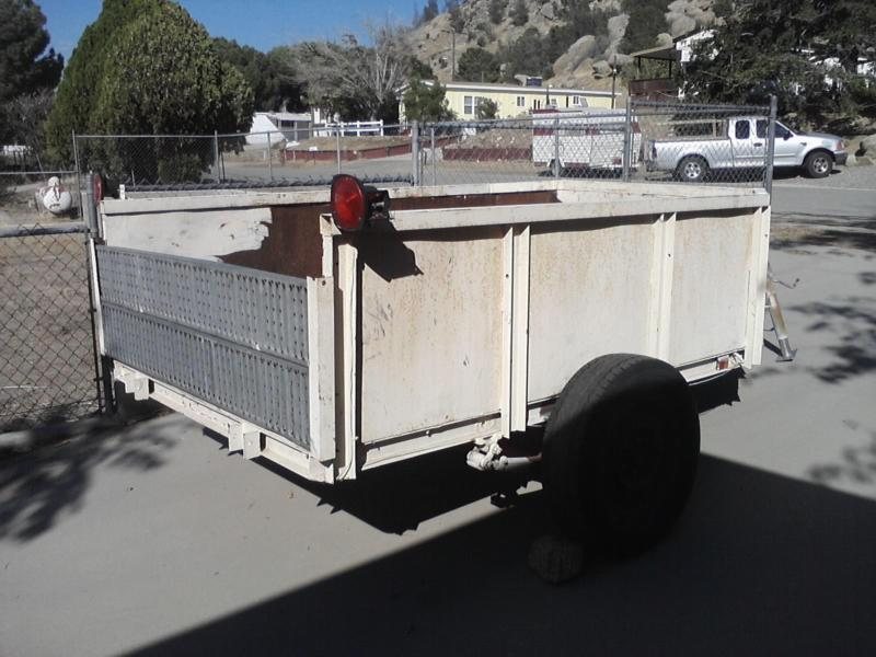 Utility Trailer large box  plywood deck ramps